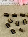 Bronze Prata Vintage 10 milímetros Fivela Conectores (20 pcs)