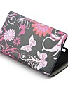 Flower Wallet PU Leather with Stand Full Body Case Cover for Nokia Lumia 520