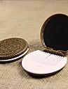 espelho de maquilhagem de chocolate rodada