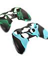 2шт Камуфляж Защитная силиконовая кожа случае для Xbox360 Controller
