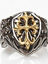 Z&X®  Men's Fashion Crow Heart Cross Titanium Steel Ring