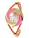 여성의 디아 망테 라운드 합금 밴드 석영 아날로그 팔찌 시계 (분류 된 색깔)를 다이얼