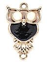 alliage hibou bricolage charme des pendants d'oreille&collier