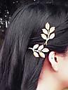 1 Pcs grego vento Leaves Of Gold Retro Side fixação Hairpin