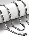 Бижутерия Ожерелья-цепочки Свадьба / Для вечеринок / Повседневные / Спорт Титановая сталь Мужчины Серебряный Свадебные подарки
