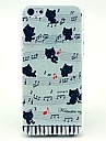 Music Cat Pattern Hard Back Cover Case for iPhone 4/4S\