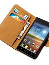 Genuine Leather Wallet Case for LG P705 Optimus L7 P700 with Stand