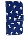 Pour Samsung Galaxy Coque Etuis coque Portefeuille Porte Carte Avec Support Clapet Motif Coque Intégrale Coque Eléphant Cuir PU pour