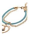 multicolores millésime bracelets de charme en forme de coeur (1 pc)