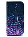 Для Кейс для iPhone 5 Кошелек / Бумажник для карт / со стендом / Флип / С узором Кейс для Чехол Кейс для Градиент цвета Твердый