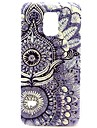 White Flowers Pattern Hard Plastic Case for Galaxy Samsung S5 mini
