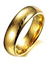 Golden Stainless Steel Band Rings for Couples