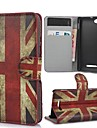 The Union Jack Pattern Case Cover with Card Slot and Stand for Sony Xperia M C1905