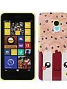 Kawaii Popcorn Pattern Plastic Case Cover for Nokia Lumia 630