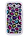Superfície de cristal colorido Pattern Leopard Back Case para Samsung Galaxy S3 I9300