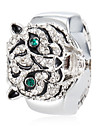 Женские Модные часы Кварцевый сплав Группа Часы-кольцо / Блестящие Серебристый металл