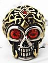 Z&X®  Men's Fashion Skull Crystal Titanium Steel Ring Christmas Gifts