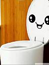 둥근 얼굴 화장실 스티커