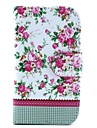 Rose Flower Design Full Body PU Leather Case with Stand and Card Slot and Money Holder for Samsung Galaxy S3mini I8190