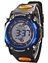 Дети Спортивные часы электронные часы LCD Календарь Секундомер тревога Цифровой Pезина Группа Черный