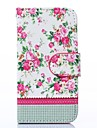 Pink Blossoms with Green Leaves Pattern PU Leather Full Body Case for Samsung S4 Mini I9190
