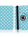 Rodada Dots Rotatable PU caso completo corpo com suporte para iPad Air (cores sortidas)