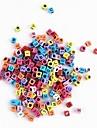 arco-íris de cores elástico colorido tear macroporosas pérolas carta transparentes 100 pcs