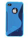 Качество силиконовая кожа случае покрытия для iPhone 4/4S (разных цветов)
