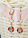 Nouveau design multicolore 18K Gold & AAA Swiss Diamond & plaqué or 18k Boucles d'oreilles Femme ER0236