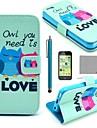Коко FUN ® влюбиться Сова случае шаблон PU кожаный всего тела с экрана протектор, Stylus и ПОВ по iPhone 5C