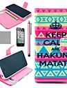 COCO FUN ® K14 Carteira Padrão Tapete Tribal PU casos com suporte para iPhone 4S incluído Film E Stylus
