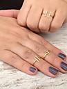 Anéis Ajustável Pesta / Diário / Casual Jóias Cobre Feminino Anéis GrossosAjustável Dourado / Prateado