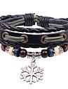 Bracelet - en Alliage/Cuir - Vintage/Soirée/Tous les jours - Lien/Chaîne/Orné de perles/Corde tressée