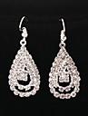 Classic Diamanted Water Drop Shape Silver Drop Earrings(1 Pair)