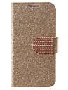 Flash Pó Projeto PU Leather Case Full Body com slot para cartão para Samsung Galaxy S4 Mini I9190 (cores sortidas)