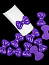 10pcs forme bowknot sucrerie résine de couleur décorations nail art (couleurs assorties)