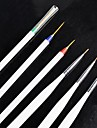 Крошечный акриловый маникюр рисунки Pen кисть Инструменты 3 + 3 за упаковку