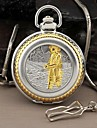 Men's Angler Style Round Roman Large Numerals Dial Quartz Analog Pocket Watch Cool Watch Unique Watch