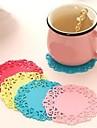 Термозащитные коврики для чашек (цвет случайный)