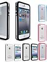 Para Capinha iPhone 5 Transparente Capinha Protetora de Quinas Capinha Cor Única Macia TPU iPhone SE/5s/5