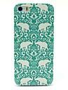Dure de cas modèle d'éléphant de fleur tapis pour iPhone 5/5S