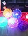 красочные экологически чистые резиновые животное упругий шарик игрушка для собак (загорится, 6 х 6 см)