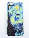 starry night design de metal tampa traseira dura para o iPhone 4 / 4s
