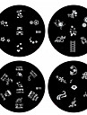 1PCS Nail Art Stamp Stamping Image Template Plate B Series NO.9-12(Assorted Pattern)