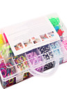 colorful rainbow kit de bandes de métier à tisser 13 cellules caoutchouc multicolores famille de bande set (4200 pcs) et le connecteur