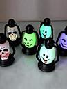 Coway семь светодиодный ночник ночник Хэллоуина смайлик черепа (случайный цвет)