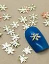 200шт снежинка форма ломтик металл украшение искусства ногтя