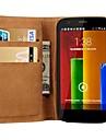 Genuine Leather Wallet Stand Design Case for Motorola Moto G