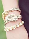 Shixin® Vintage Multicolor Diamanted Leather Charm Bracelets(1 Pc)