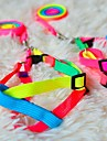 "Rainbow Style Harness with Leash for Dogs (120cm/47.2"",Chest:19-27cm)"